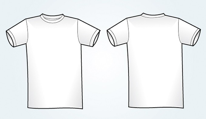 680x395 Blank White Vector T Shirt Template Vectorish