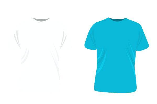 600x400 Blue Polo Shirt Template Vector. Shirt Vector Template Illustrator