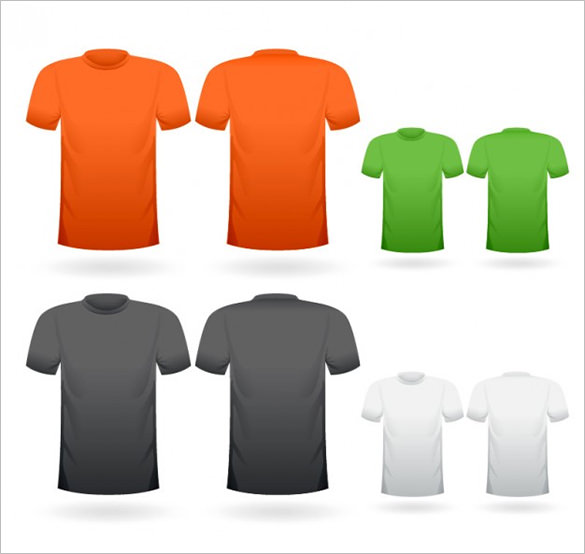 T Shirt Template Vector Free Download