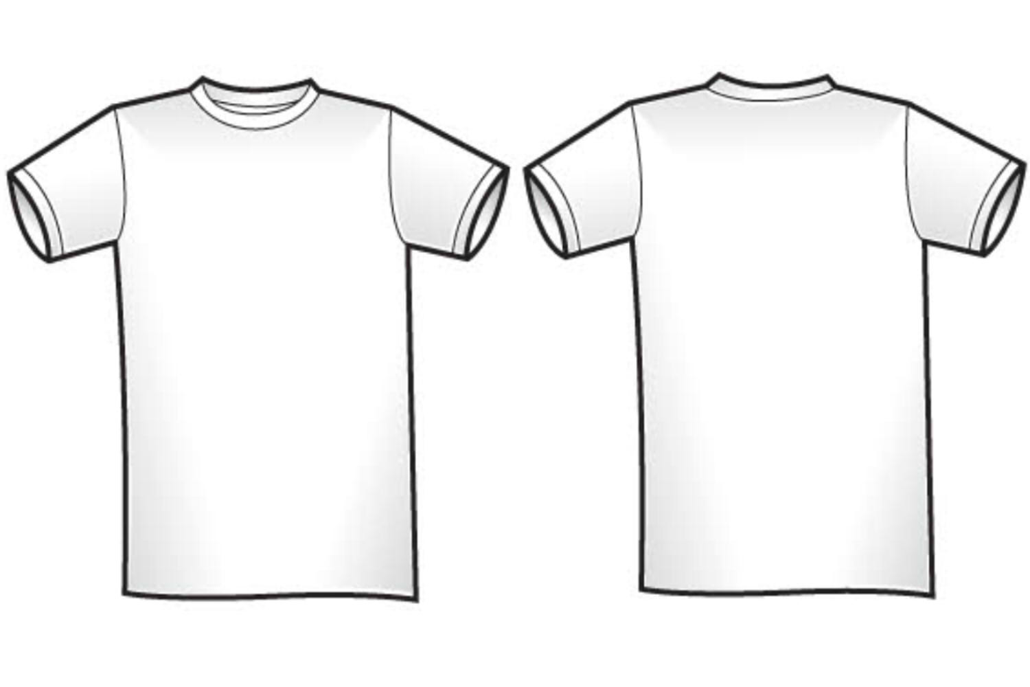T Shirt Template Vector Free Download At Getdrawings Free For