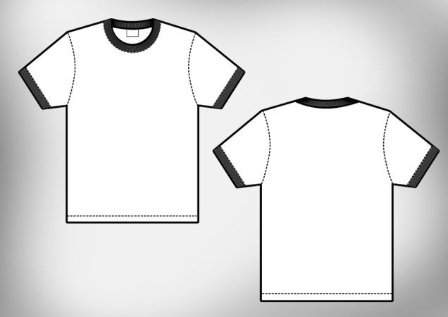 636x450 T Shirt Mock Up Vector Free Download Shirt Template Sweat Shirt
