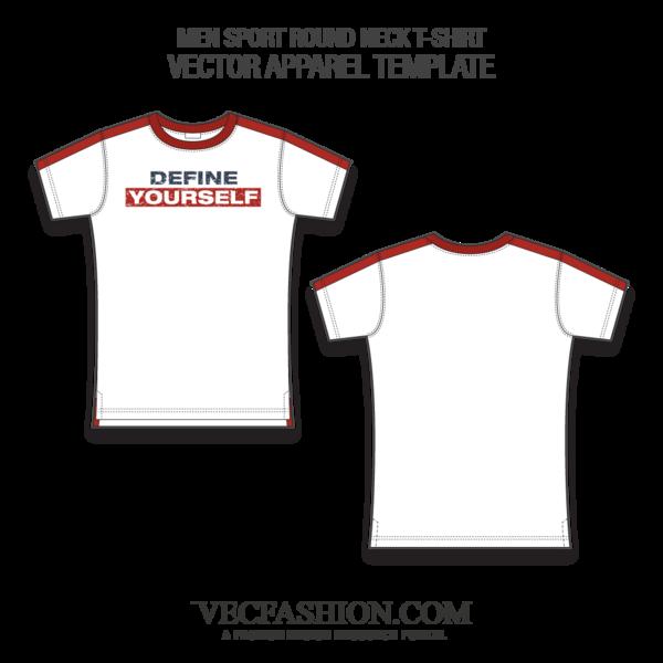 600x600 Sport Round Neck T Shirt Fashion Flat