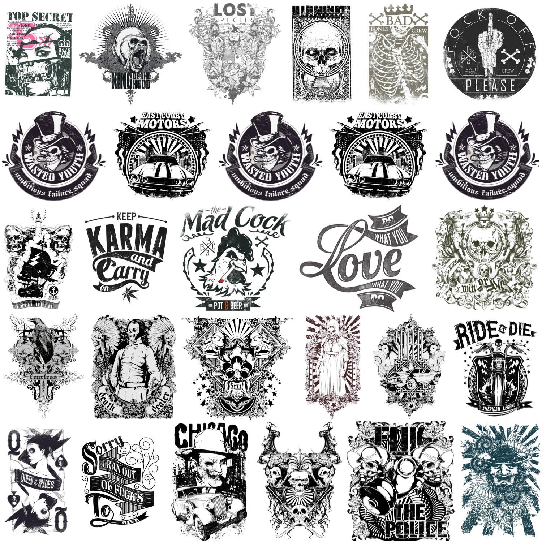 1500x1500 Scary T Shirt Designs Or Tattoos With Skulls, Bad Bones, Biker