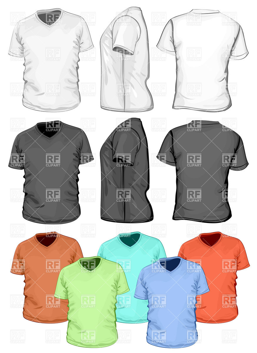 874x1200 Blank V Neck T Shirt Design Template Vector Image Vector Artwork