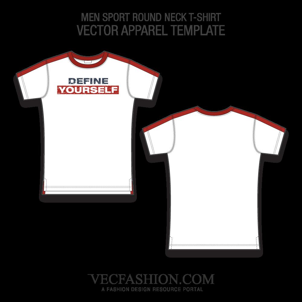 1000x1000 Sport Round Neck T Shirt Fashion Flat