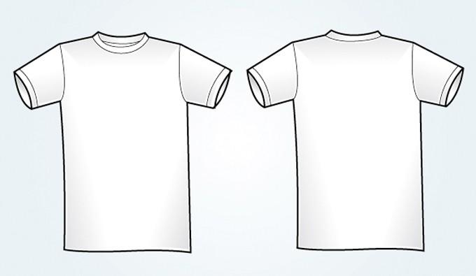 680x395 Blank White Vector T Shirt Template Vectorish
