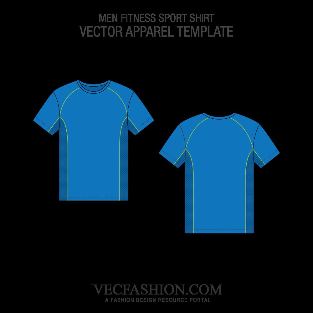 1000x1000 Fitness Sport Shirt Vector Template