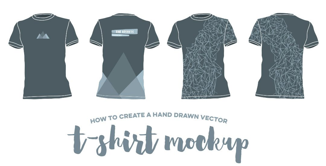1080x550 How To Create A Hand Drawn Vector T Shirt Mockup