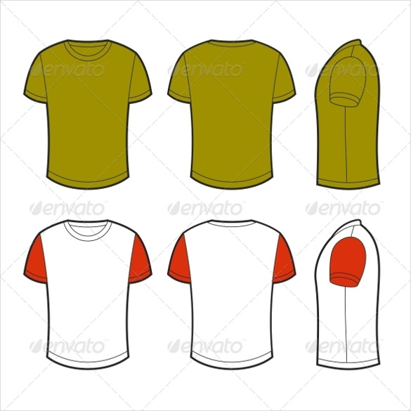 T Shirt Vector Template Illustrator