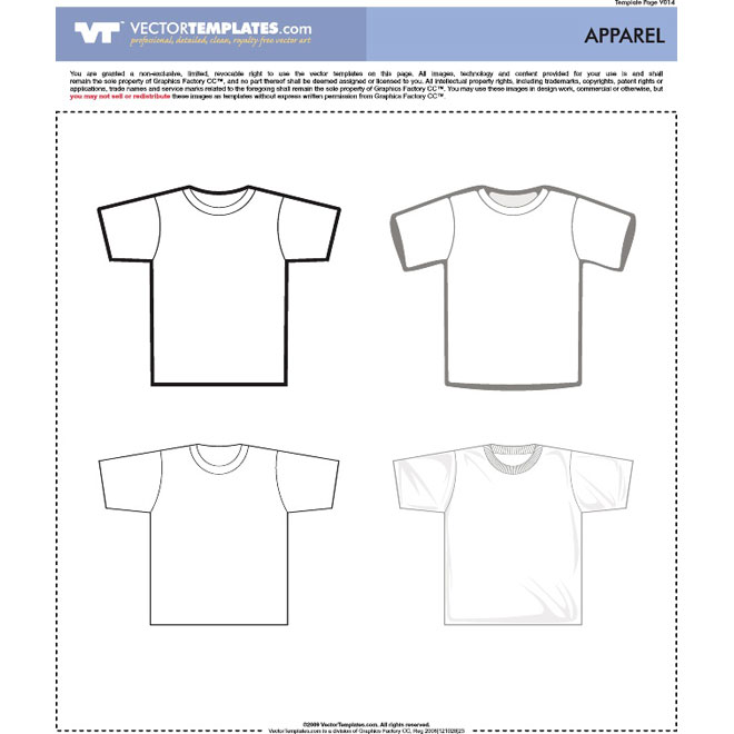 660x660 Free Vector Garment Templates