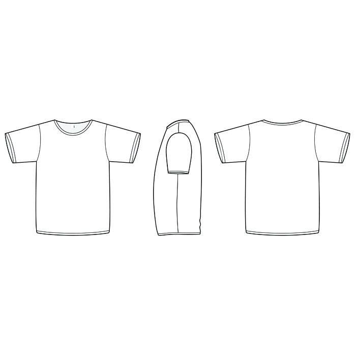 700x700 Free Vector Tee Shirt Template T Templates Skincense.co