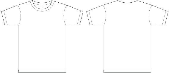 T Shirt Vector Template Ilrator At