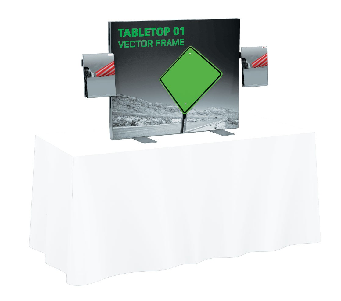 1118x988 Vector Frame Tension Fabric Table Top Display Kit 1 Power