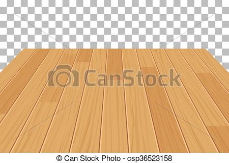450x320 Vector Wood Table Top On Isolated Background.