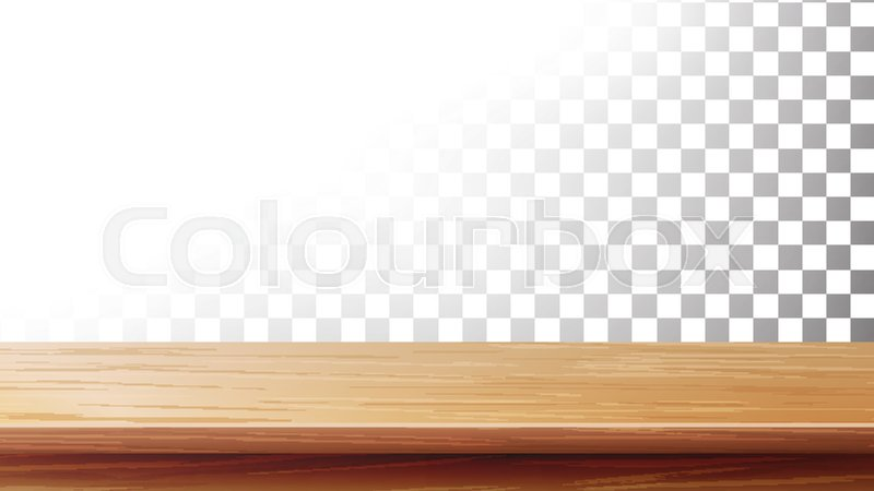800x450 Wooden Table Top Vector. Empty Stand For Display Your Products