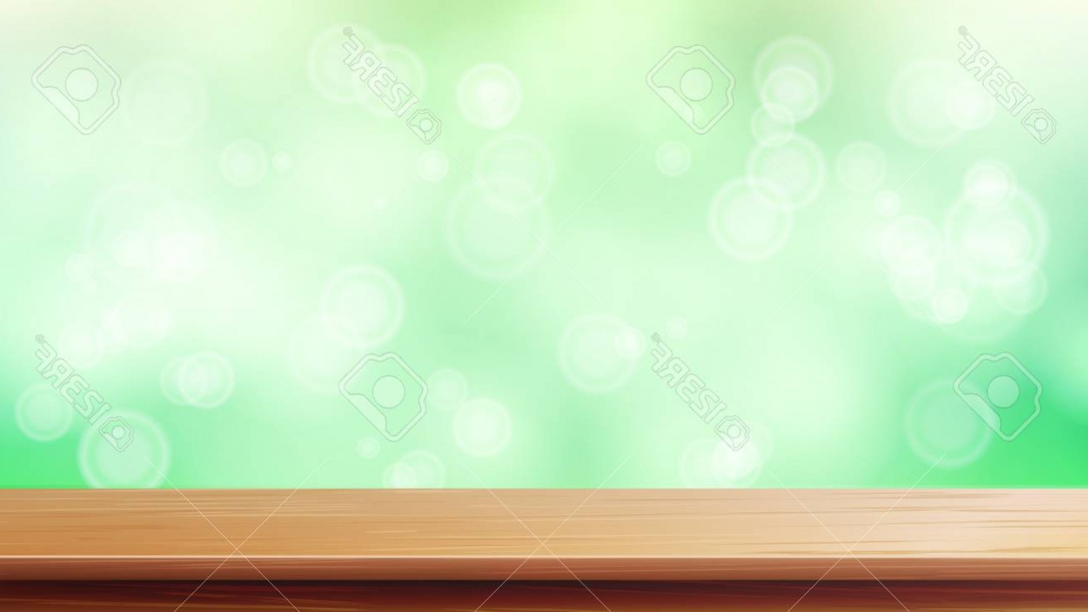 1560x877 Photostock Vector Wood Table Top Vector Blur Spring Green