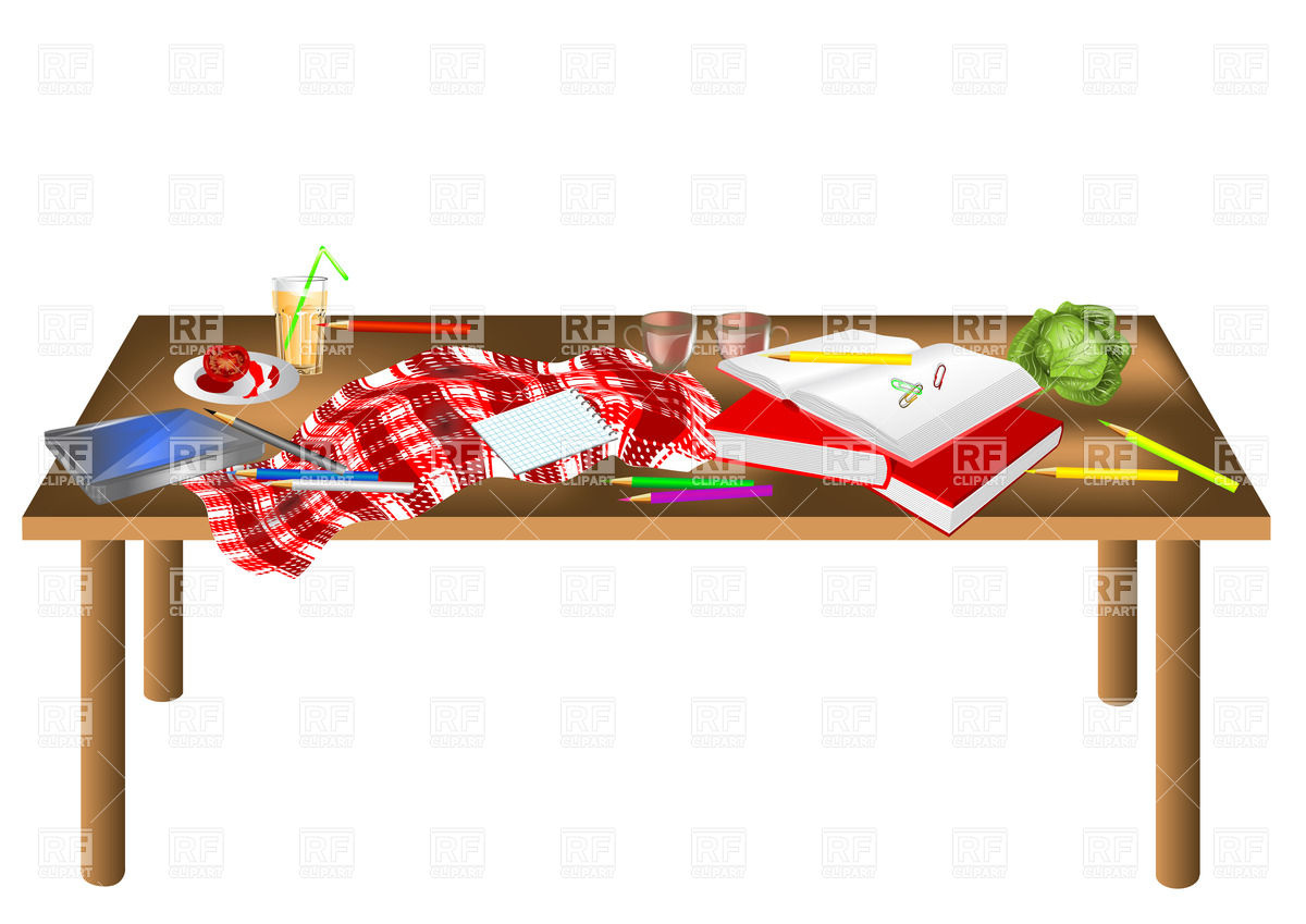 1200x849 Messy Table Isolated On A White Background Vector Image Vector