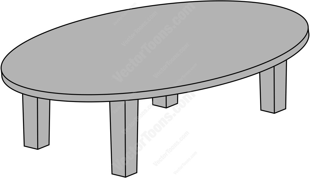 1024x588 Oval Conference Table Clipart By Vector Toons