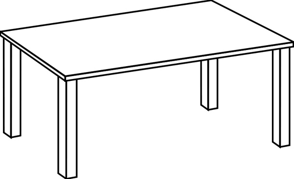 600x365 Table Line Art Free Vector In Open Office Drawing Svg ( .svg