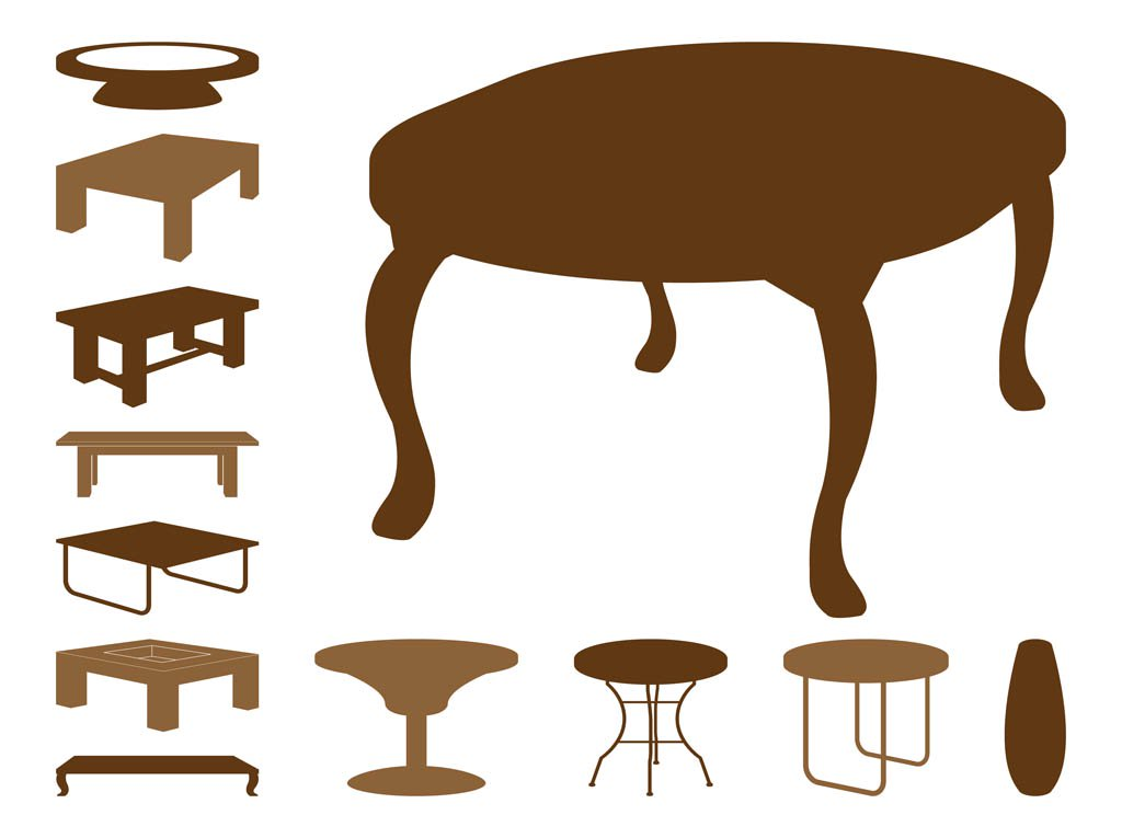 1024x765 Table Silhouettes Vector Art Amp Graphics