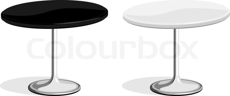 800x336 Vector Illustration Of Black And White Coffee Shop Table Isolated