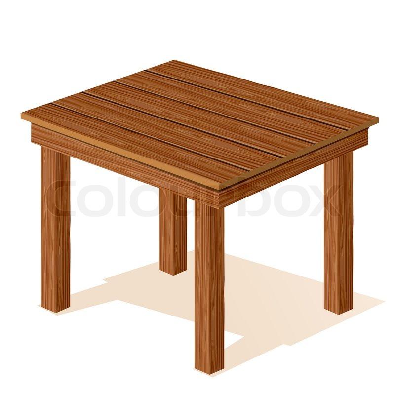 800x800 Vector Wooden Table Stock Vector Colourbox