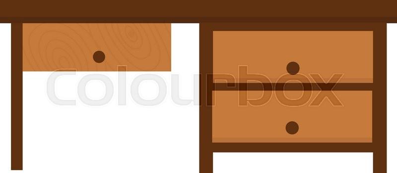 800x348 Wood Table Furniture Vector. Wood Table Furniture Illustration