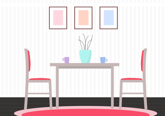 700x490 Free Table Vector