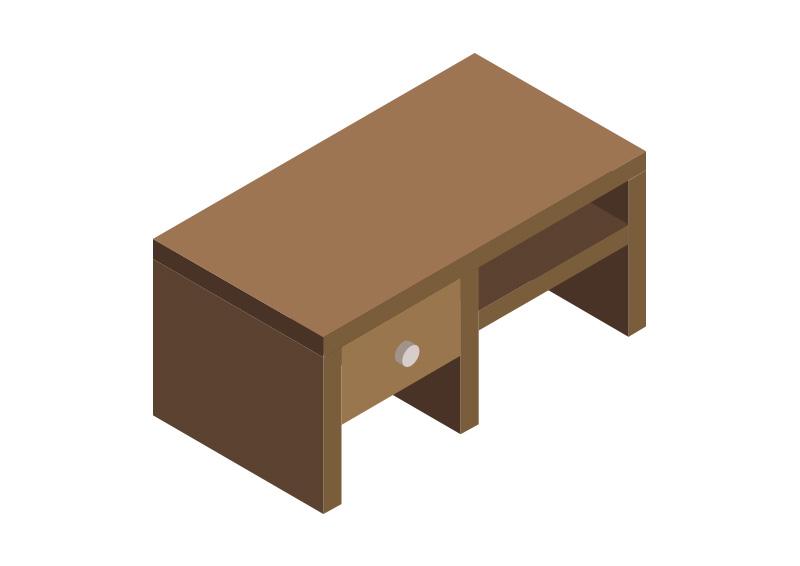 800x566 Isometric Table Free Vector