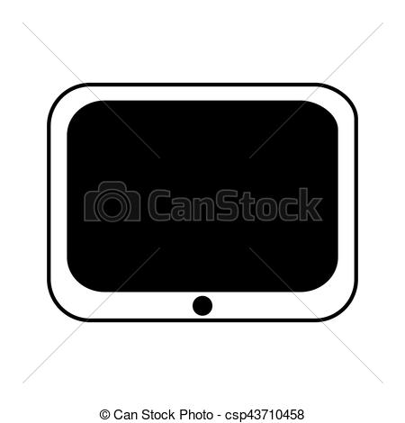 450x470 Tablet Electronic Device Icon Vector Illustration Design.