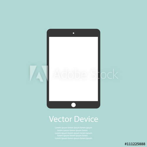 500x500 Tablet Flat Icon In Ipad Style. Tablet Icon Vector. Tablet Icon