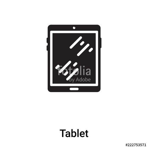 500x500 Tablet Icon Vector Isolated On White Background, Logo Concept Of