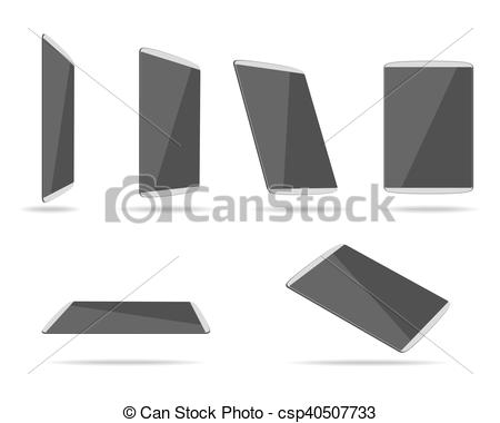 450x380 Tablet Pc Different Foreshortening. Tablet Icon Vector, Tablet