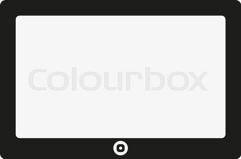 800x530 The Tablet Icon. Tablet Symbol. Flat Vector Illustration Stock