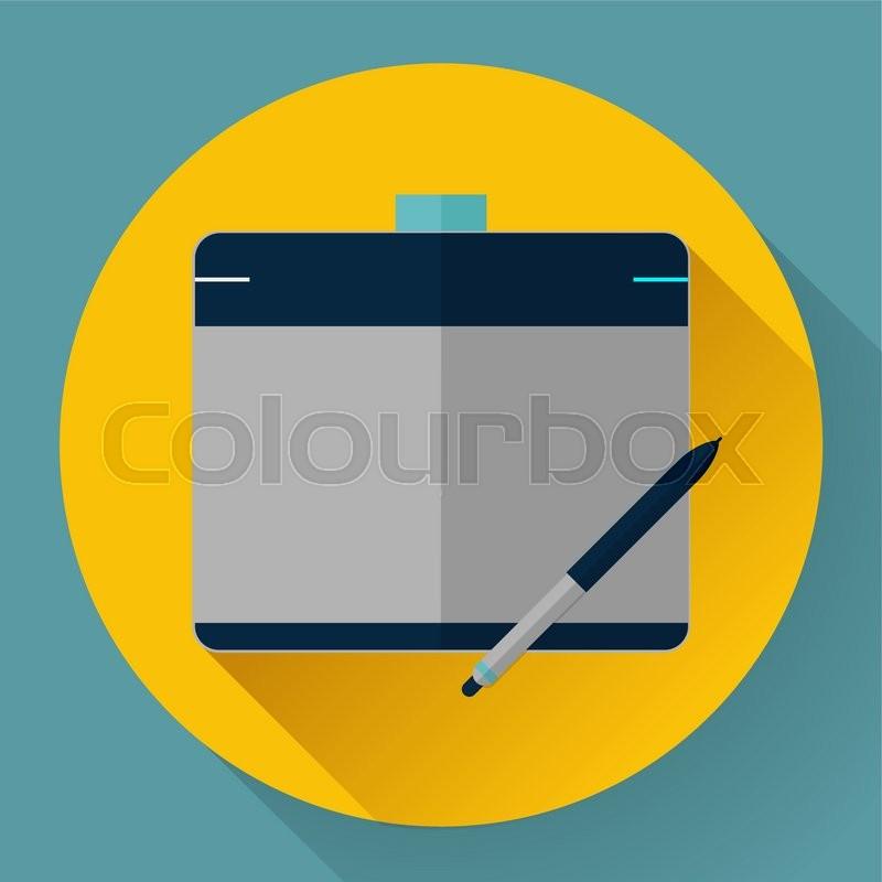800x800 Vector Graphic Pen Tablet For Design Icon Stock Vector Colourbox