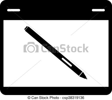 450x402 Graphics Tablet With A Pen.