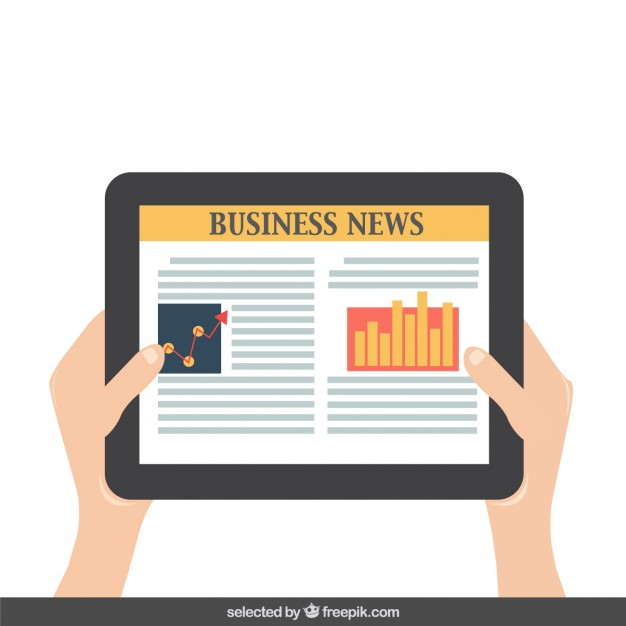 626x626 Reading Business News On The Tablet Vector Free Download