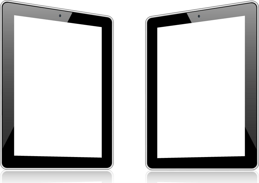 858x606 Blank Screens Of Modern Devices Vector