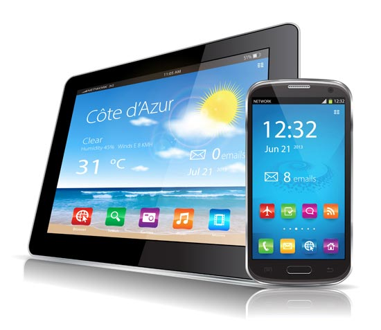 550x477 Tablet Laptop And Smartphone Vectors