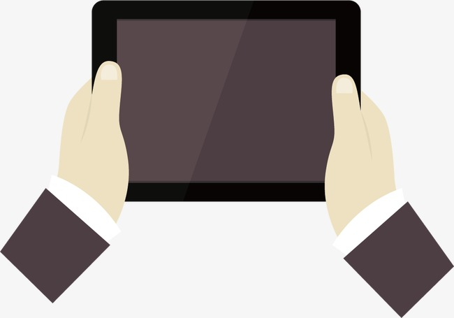 650x455 Hands Holding Tablet Pc, Hands, Tablet, Vector Png And Vector For