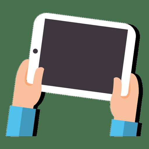 512x512 Tablet On Hands Cartoon