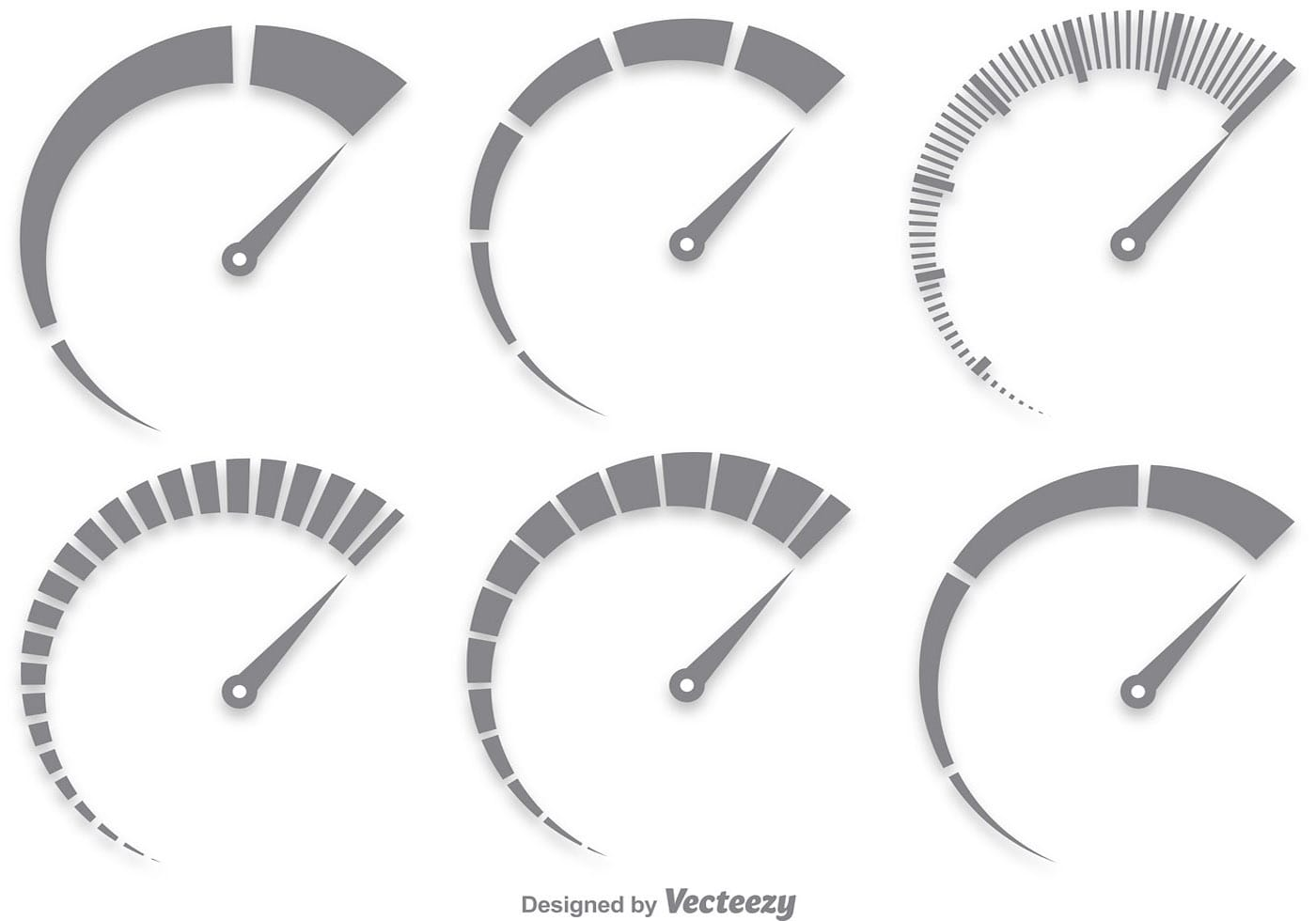 1400x980 Gray Tachometer Vector Set