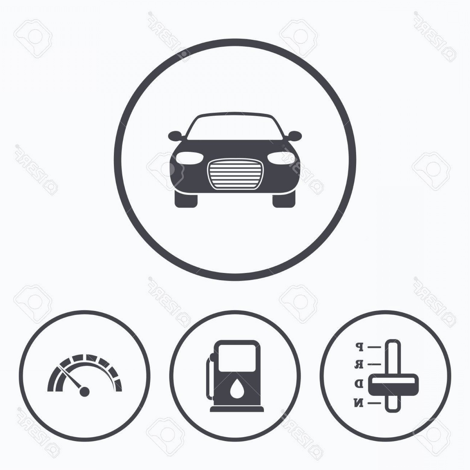 1560x1560 Photostock Vector Transport Icons Car Tachometer And Automatic