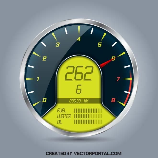 660x660 Tachometer Vector Image Vehicles Free Vectors