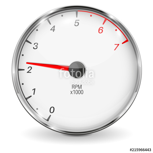 500x500 Tachometer. 3d Vehicle Gauge Stock Image And Royalty Free Vector