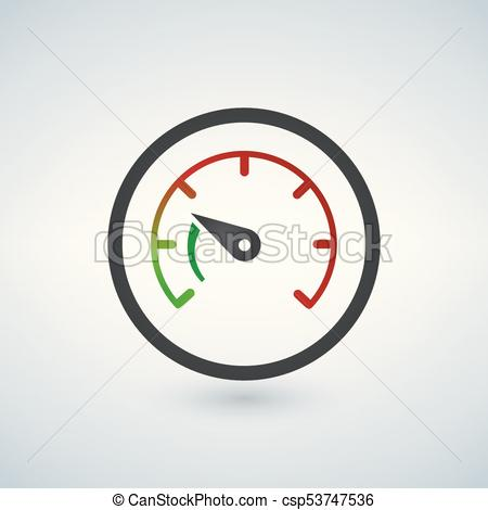 450x470 The Tachometer, Speedometer And Indicator Icon. Performance