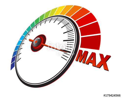500x400 Maximum Performance Tachometer Stock Image And Royalty Free