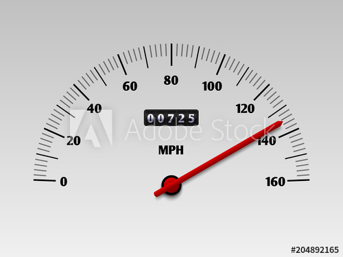 500x375 Car Speedometer With Speed Level Scale Or Tachometer Vector