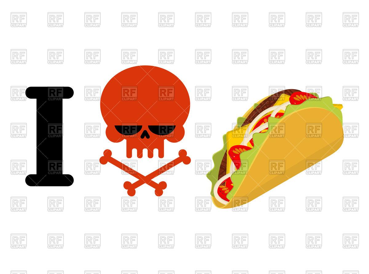 1200x891 I Hate Taco Vector Image Vector Artwork Of Conceptual