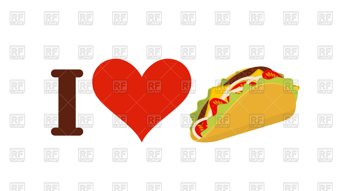 1200x670 I Love Taco Concept Vector Image Vector Artwork Of Conceptual